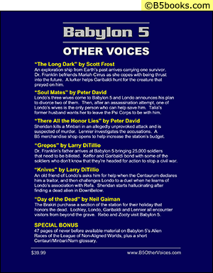 Back Cover of Babylon 5 Scripts: Other Voices, Volume 3