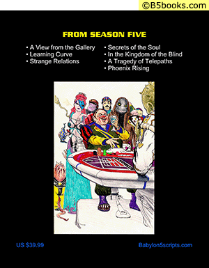 Back Cover of Babylon 5: The Scripts of J. Michael Straczynski, Volume 12