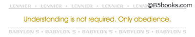 Bookmark with Lennier quote selected by Bill Mumy