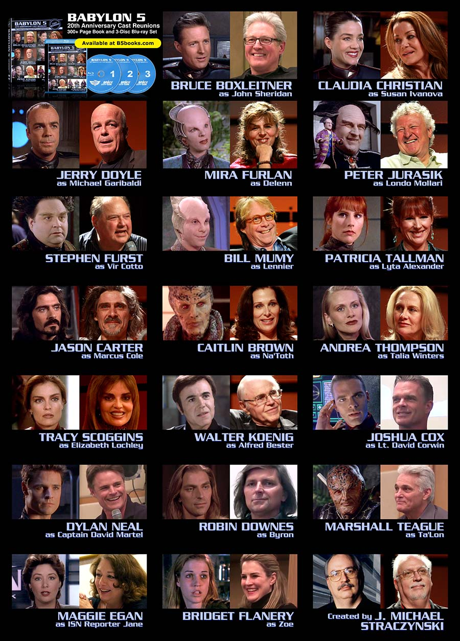 Babylon 5 Character Actor Photos Then And Now