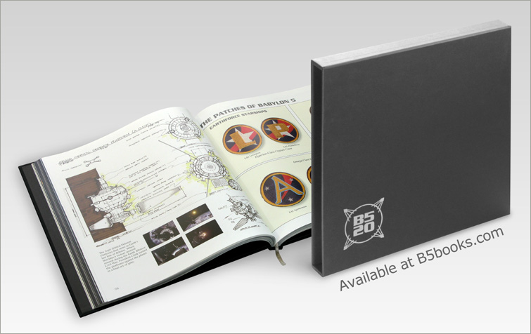 Patches of Babylon 5 and Concept Art in B5-20 Book with Slipcase