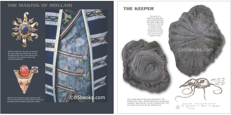 Behind the Scenes Images of Mollari and the Keeper in B5-20 Book