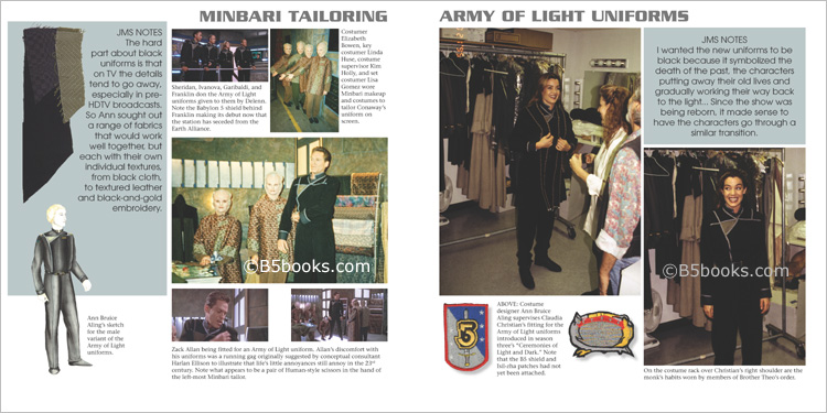 Minbari Tailoring and Army of Light Uniforms in B5-20 Book