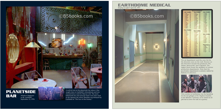 Planetside Bar and Earthdome Medical in B5-20 Book