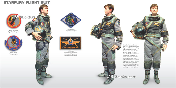 Photos of Starfury Flight Suit in B5-20 Book