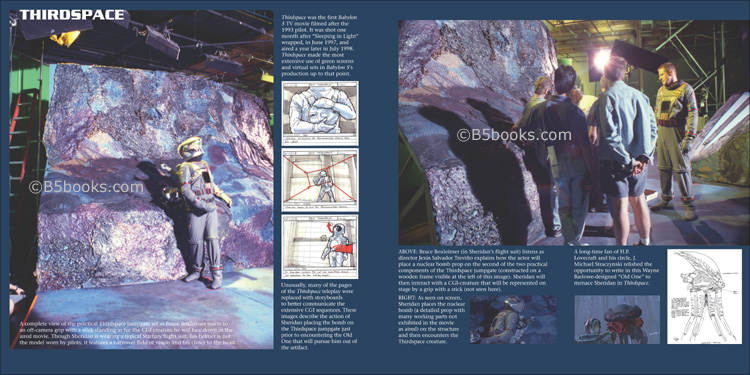 Behind the Scenes Thirdspace Set Photos and Storyboards in B5-20 Book