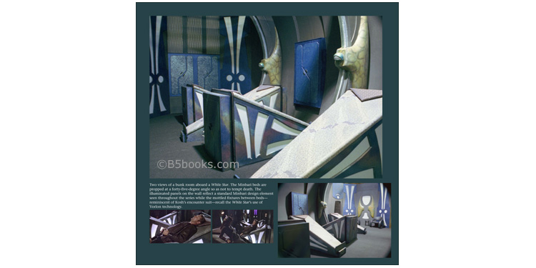 Minbari Beds on the White Star in B5-20 Book