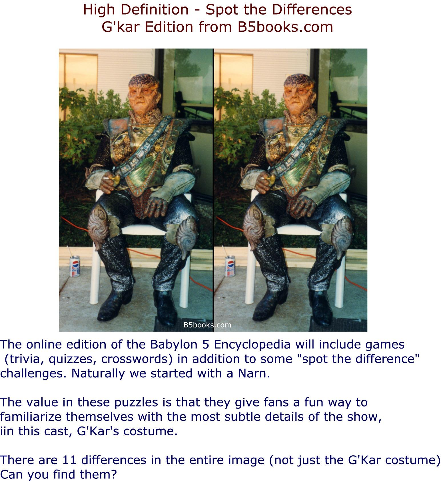HD Gkar Spot the Differences Babylon 5 Encyclopedia