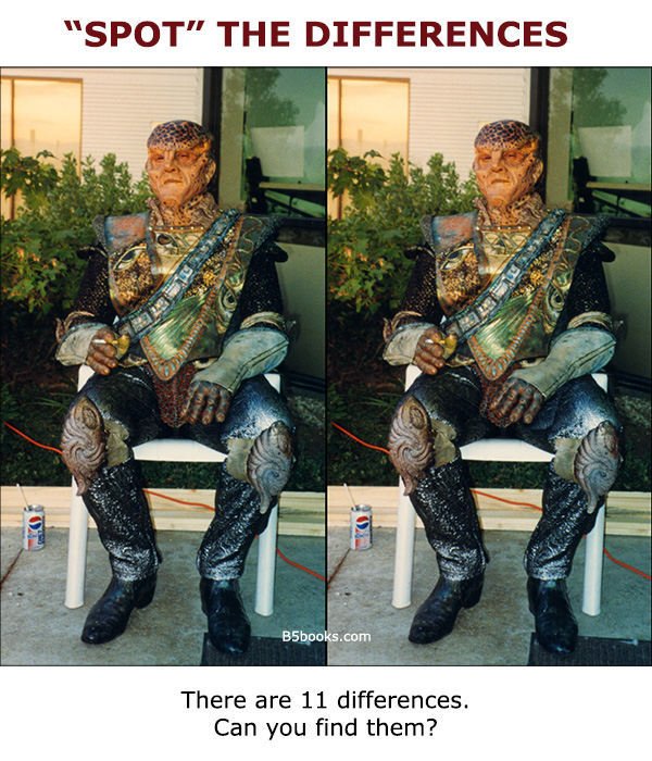 HINT: differences can be anywhere in the image not just G'Kar, click on image to view full size