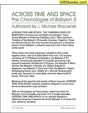 Back Cover of Across Time & Space: The Chronologies of B5 (2012)