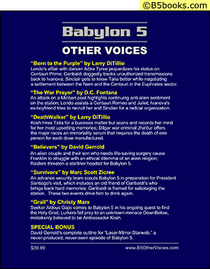 Back Cover of Babylon 5 Scripts: Other Voices, Volume 1
