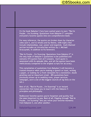 Back Cover of But in Purple...I'm Stunning!