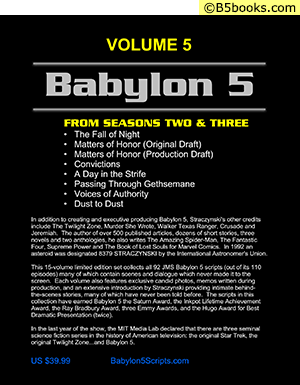 Back Cover of Babylon 5: The Scripts of J. Michael Straczynski, Volume 5