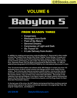 Back Cover of Babylon 5: The Scripts of J. Michael Straczynski, Volume 6
