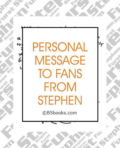 Page sample showing personal message from Stephen Furst