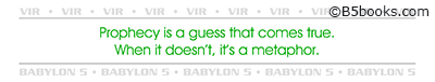 Bookmark with Vir quote selected by Stephen Furst