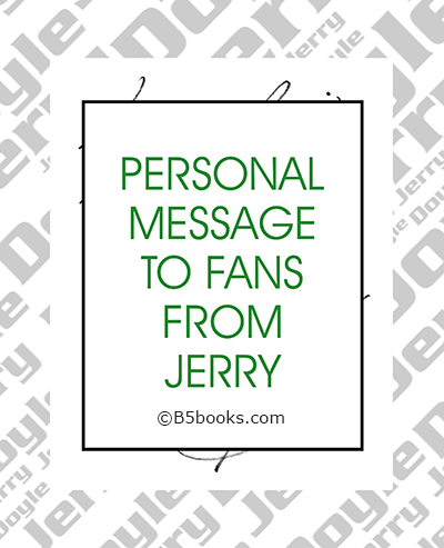Page sample showing personal message from Jerry Doyle
