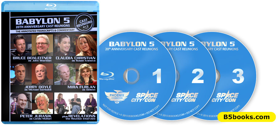 Babylon 5 Cast Reunions Blu-ray Case and Discs